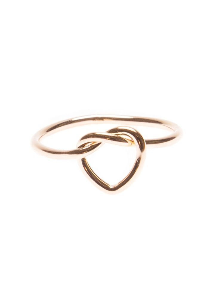 Minimalist Heart Knot Ring #fashion #schmuck #rosegold #ring – 16,90 @happinessb