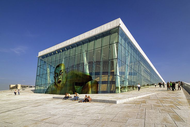 Oslo Opera House designed by Snøhetta. Bjørvika, Norway.