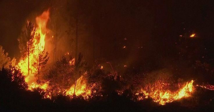 Chamas do incêndio em Portugal podiam ser vistas do espaço Maior incêndio da história do país matou 64 pessoas. Ventos espalharam as chamas na 'Estrada da Morte', onde 47 morreram.