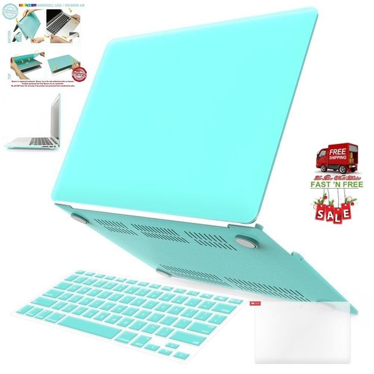 3 in 1 Case Keyboard Cover Screen Protector Macbook Air 13 Inch Turquoise Plasti…