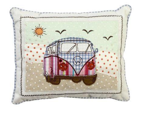 Patchwork de caravana Camper de Volkswagen de pantalla de regalo Retro cojín: Amazon.es: Hogar