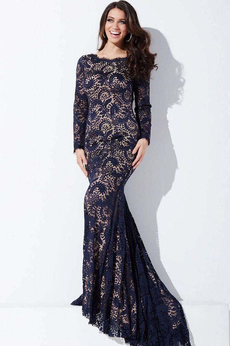Jovani black lace dress 9089791302