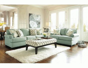 Daystar Seafoam Living Room Set By Signature Design In Sets The