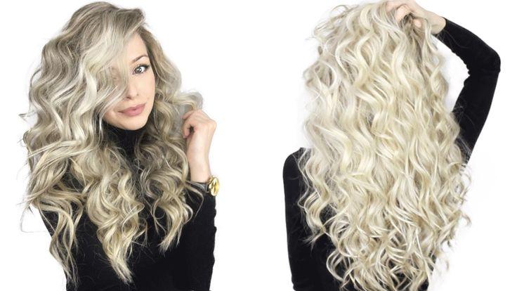 "How to: Voluminous Curly Hair Tutorial | ""quick"""