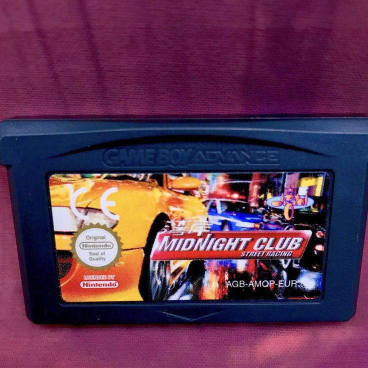 Gameboy Advance Games Midnight Club Vintage Retro Gaming Console Handheld