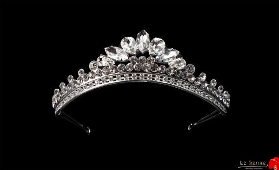 tiaras for wedding princess tiara crown crystal tiara by Lesense, $95.00