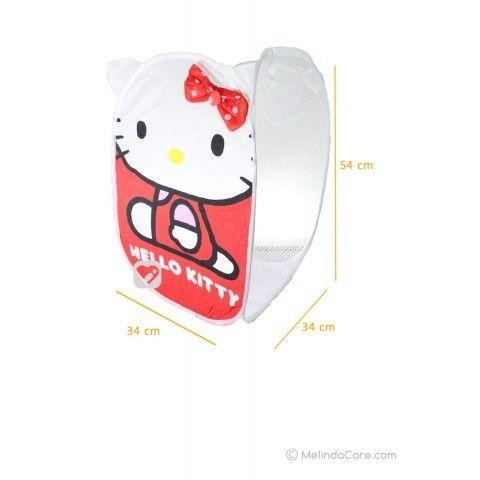 Keranjang Baju Laundry Bag Karakter Hello Kitty (Pita Merah Polkadot Pink Muda) Rp. 35.000  www.melindacare.com hubungi 081321148408 atau 765BEE5E