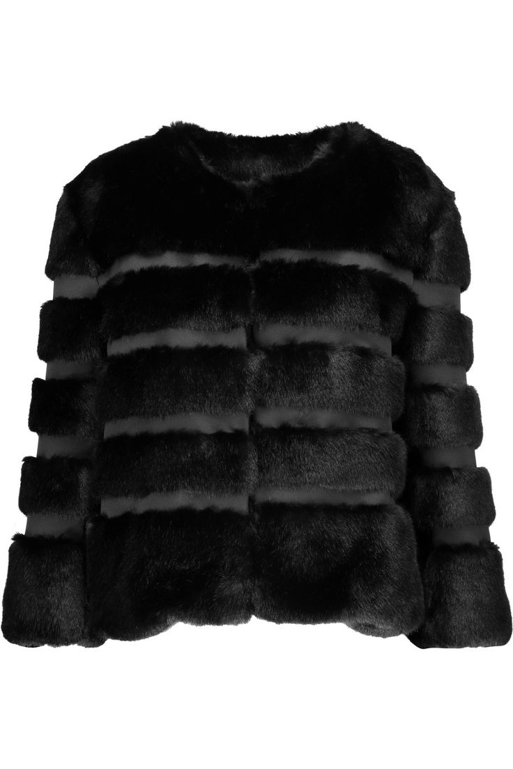 AINEA Faux Fur And Satin Coat. #ainea #cloth #coat