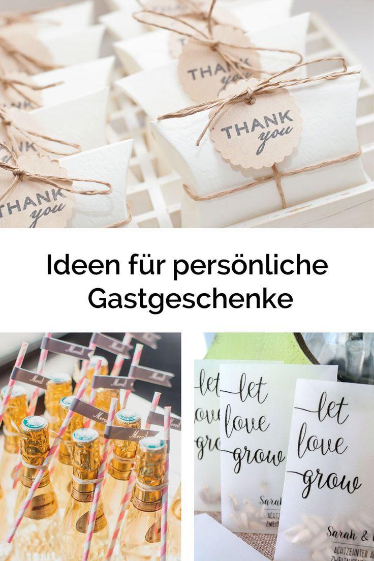 Persönliche Gastgeschenke – das besondere Dankeschön an Eure Gäste