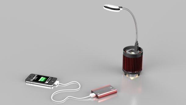 Charge your ipod with a tea candle, or body heat! neat stuff :)
