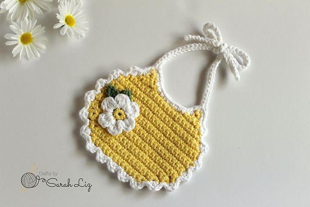 Crochet Daisy Bib Free Pattern
