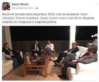 Pregopontocom Tudo: Janot reforça pedido de prisão de  Aécio com foto de reunião postada no Facebook