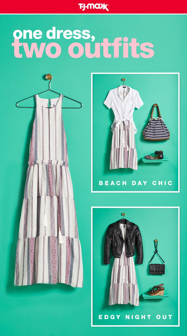 Maxx your wardrobe with a versatile dress you can wear now and later. For a casual summer look, score a beach-day chic tote and sandals. Heading to a concert or night out? Channel your inner rocker with an edgy leather jacket and trendy moto boots. Shop summer dresses at tjmaxx.com and your local T.J.Maxx.
