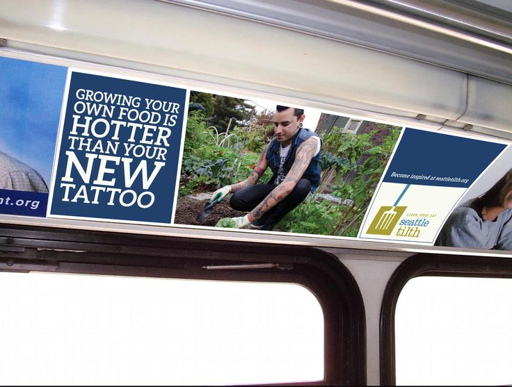 Seattle Tilth - Interior Bus Ad Mock Up | SCCA // ART DIRECTION ...