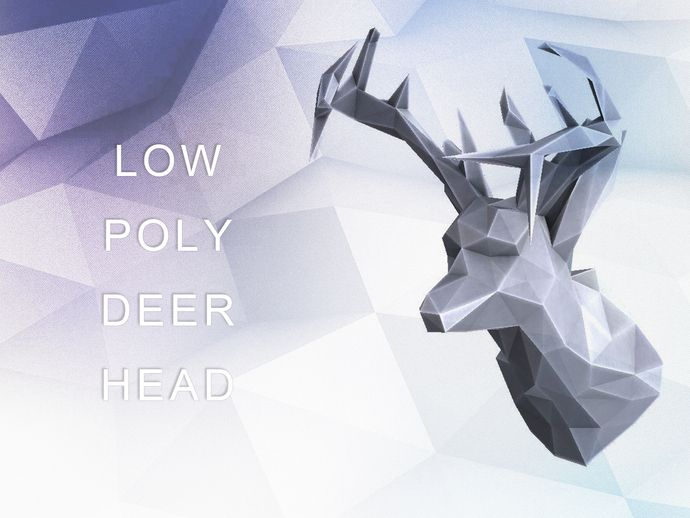 """deer_head_reshaped-v3.6.0 - flush back   deer_head_reshaped-v3.6.1 - 2x 0.25"""" holes for [magnets](http://www.amazon.com/gp/product/B001KV9RAW/ref=as_li_ss_tl?ie=UTF8&camp=1789&creative=390957&creativeASIN=B001KV9RAW&linkCode=as2&tag=evsbl0e-20)    With all the faux deer head's showing up at modern design shops I thought I'd take a crack at it myself. I started with a more detailed deer head on thingiverse and via meshlabs, modo 401, and solidworks I came up with this. I've obviously reduced…"""
