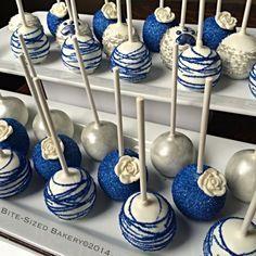 Royal Blue Cake Pops cakepins.com