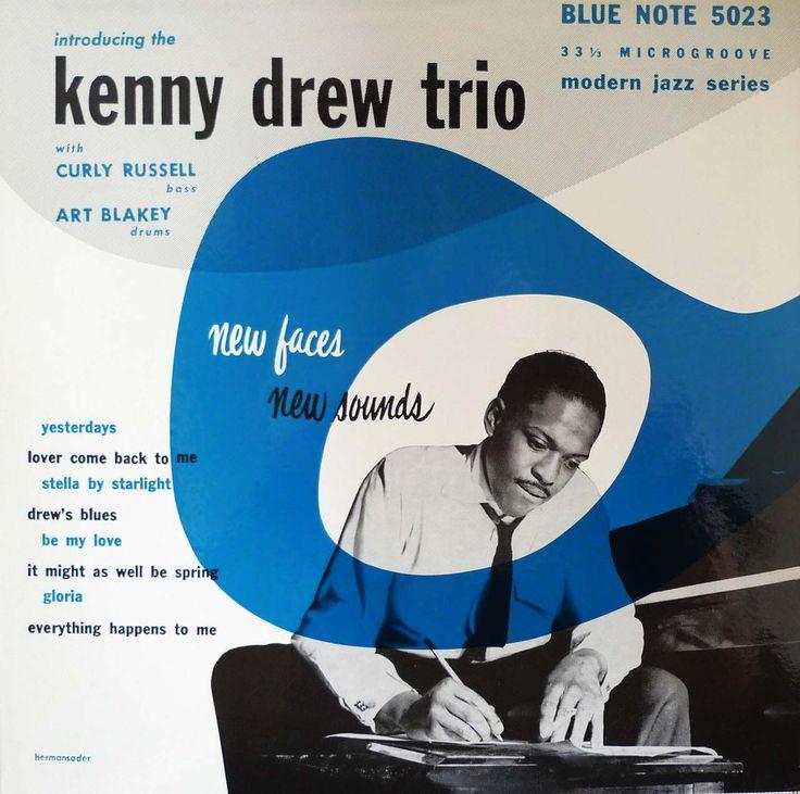 "Introducing the Kenny Drew Trio, Blue Note 10"" LP 5023, design by John Hermansader, 1953"