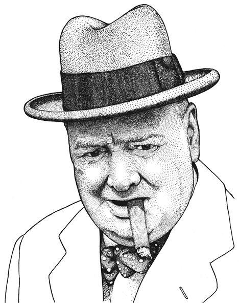 Sir Winston Churchill by daniloagutoli
