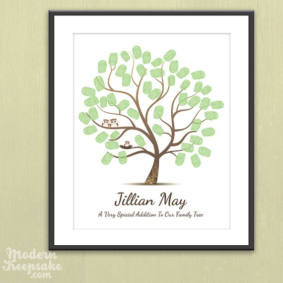 "@Michelle Fugett - friends themed nursery. Have baby shower guests stamp their thumprint to ""leaf"" their mark :)"