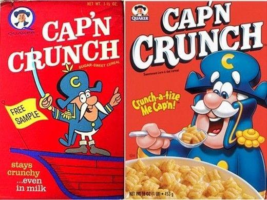 Vintage Cap'n Crunch.: Breakfast Cereal, Crunch 1963, Packaging, Crunches, Vintage, Cereal Boxes, Evolution, Design