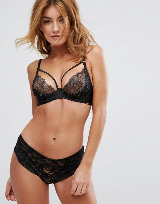Phoenix Plunge Bra - Black Boux Avenue Buy Online With Paypal Cheap Price Free Shipping rhSvN