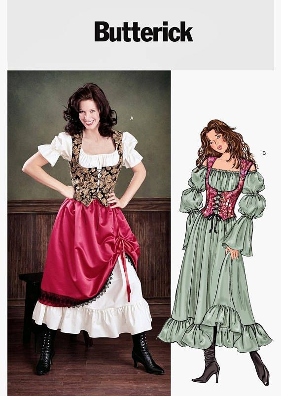 cb09f44f3a Easy Peasant Costume Pattern Easy Barmaid Costume Wench