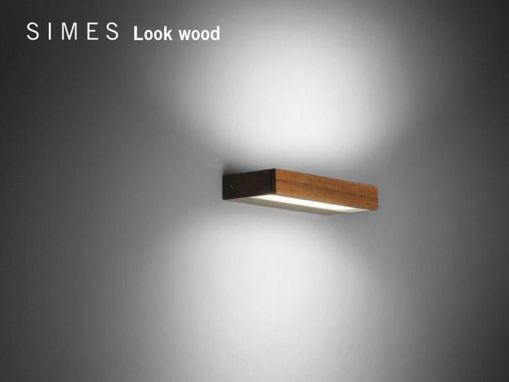 Look wood   applique by Simes, applique led en bois pour éclairage direct/indirect design Matteo Thun, collection Look Wood