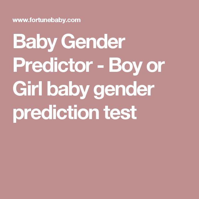 Baby Gender Predictor - Boy or Girl baby gender prediction test