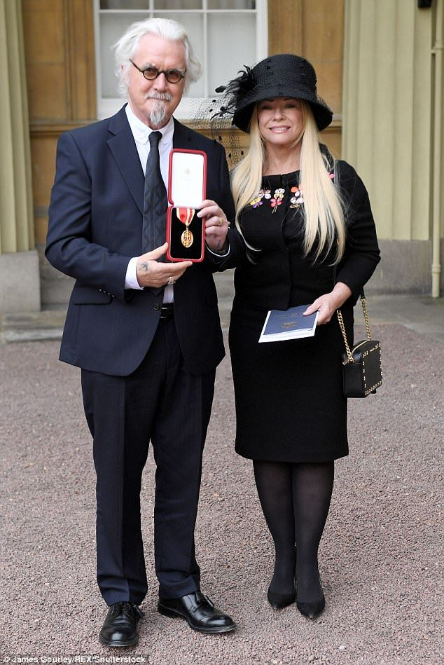 Wish you were here: While Billy was accompanied by his long-time wife Pamela Stephenson, the actor revealed his sadness at not having his late parents or sister witness his special day