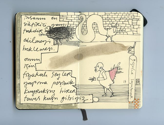 moleskine notebook on mixed media 2013
