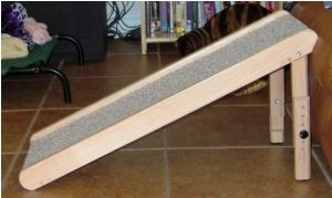Adjustable Ramp--make one like this for launching kids' cars