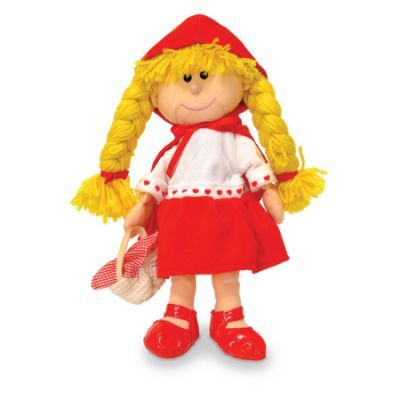 Adorable Little Red Riding Hood fabric hand puppet!! via limetreekids.com.au