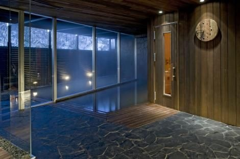 A relaxing onsen at The Vale Niseko after a day on the slopes.