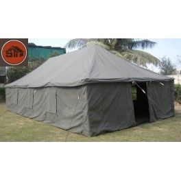 ARMY GENERAL PURPOSE POLE TENT - 100% COTTON CANVAS  Dimensions  Dimensions10 x 5 M, 12 x 6 M, 16 x 6 M Useable Area24 M2,  72 M2,     96 M2 Medium,  Standard,  Large Center Outer Tent Height3.10 M Wall height1.70 M