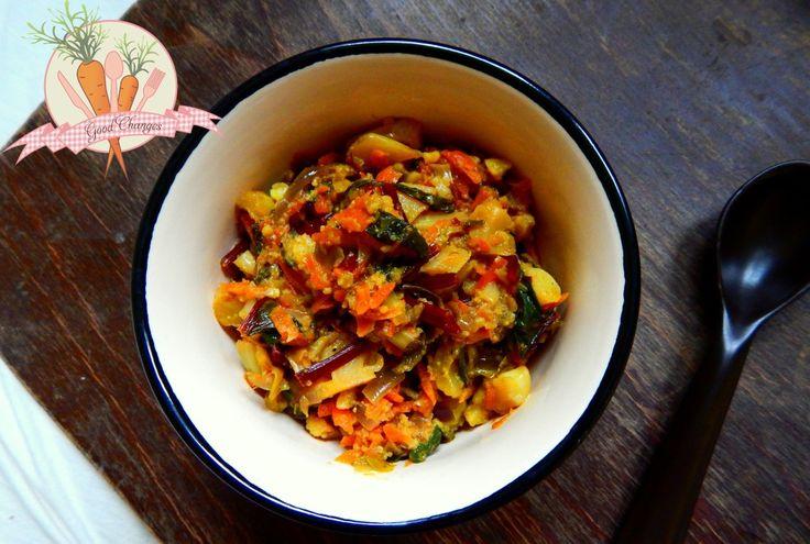 Curry z kalafiora i botwinki