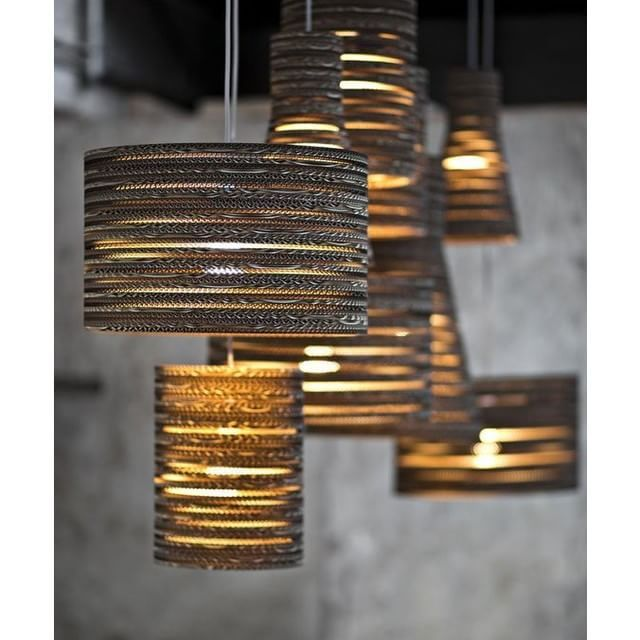 Beautiful Drum Shade U0026 Cylinder Pendant Lamps Created Out Of Cardboard  Created By Tabitha Bargh