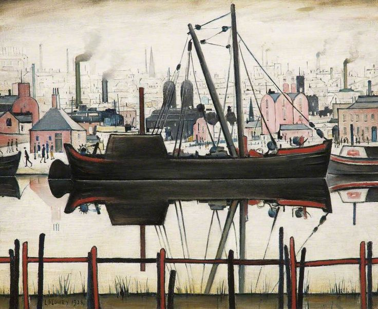 The Coal Barge by Laurence Stephen Lowry 1938