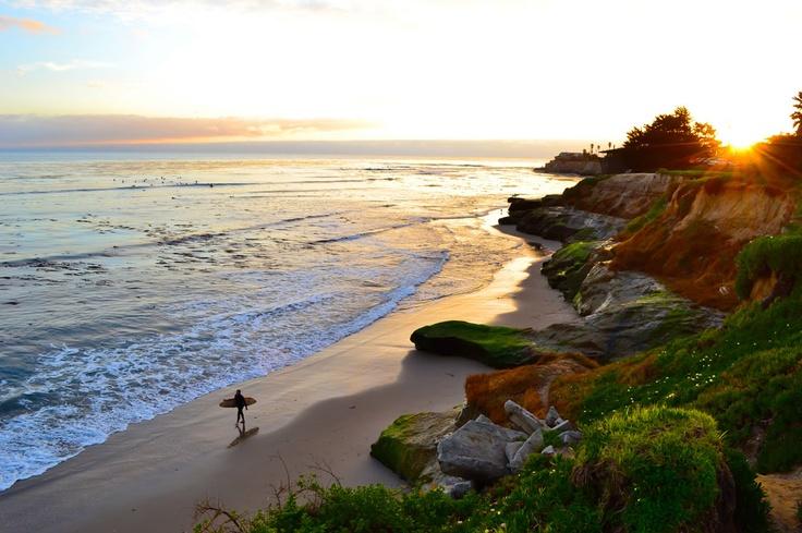 Surfer, Pleasure Point Overlook, Santa Cruz
