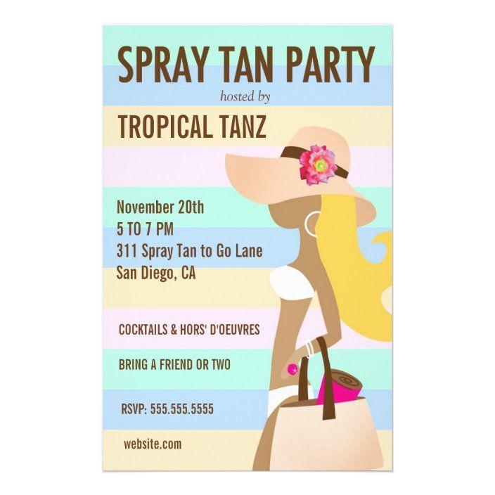 311 Bikini Girl Spray Tan Party Flyer Zazzle Com In 2020 Spray Tanning Tanning Skin Care Spray Tan Business