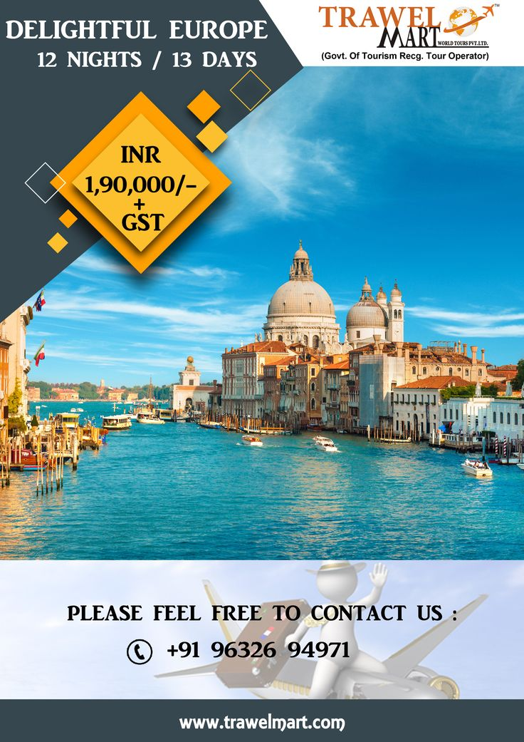 Best EUROPE TOUR PACKAGES Images On Pinterest Days Europe - Europe tours packages