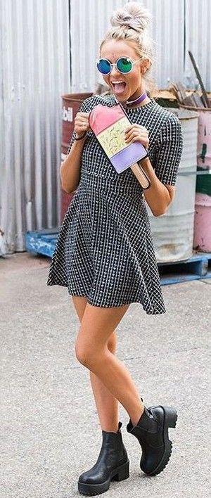 #beginningboutique #label #outfits |Skater Dress Scuba