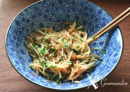 Gourmandise salada de mamão verde