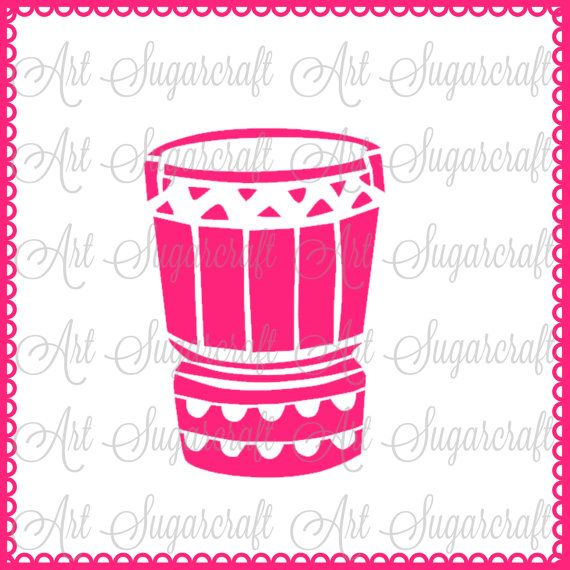 Hula drum instrument Polynesian Stencil for cookie decorating  ! cookie cupcake stencil !  Nb1511