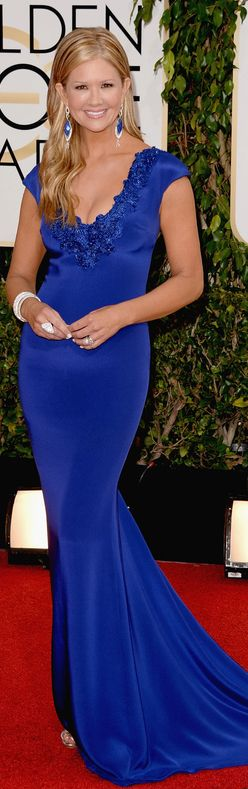 Nancy O'Dell in Marchesa | Golden Globes | The House of Beccaria#