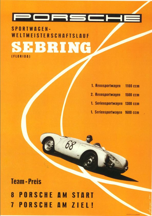 Porsche Racing Posters, 1955, Sebring. http://www.pelicanparts.com/literature/posters/poster17_small.jpg