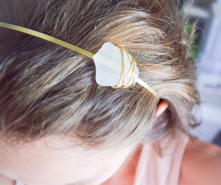 SUMMER SALE! Brass Headband with genuine frosted white sea glass tulip shape,  summer headband, boho headband, bohemian headband by Christinasfamily on Etsy