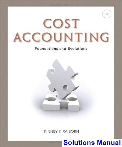 41 best solutions manual download images on pinterest cost accounting foundations and evolutions 9th edition kinney solutions manual test bank solutions manual fandeluxe Gallery