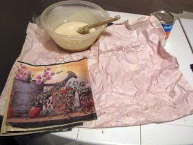 Wallpaper paste recipe -- easy to make and use for pasting wallpaper to bandboxes.