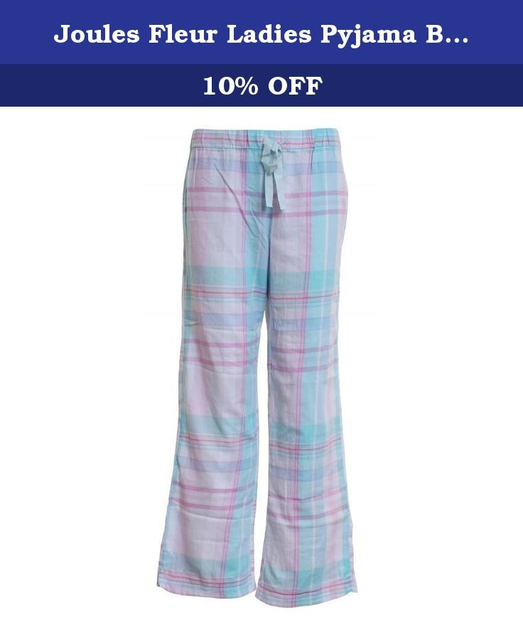 Joules Fleur Ladies Pyjama Bottoms (W) UK18 EU46 US14 Neoma Check.