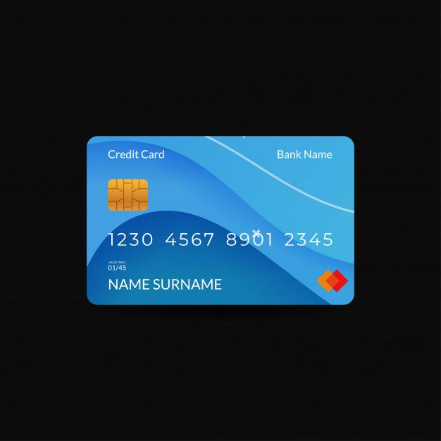 Credit Card Design Templates With Blue C Premium Vector